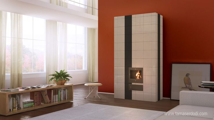 Szentesi Tile Stove  http://tamaserdodi.com  #3D #visual #viz #furniture #tile #stove #design #books #book #modern #flat #loft