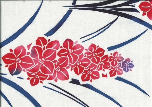 "Yukata ""Floral plumes""    www.kesarankimonofabric.com"