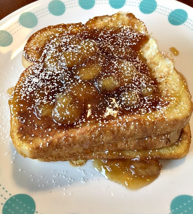 Bananas Foster French Toast is a family favorite breakfast recipe!