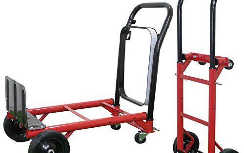 Anaelle Pandamoto Diable Pliant Chariot de Transport sur Maison, Jardin, Entrepôt et Ferme etc, Taille: 40*98cm, Poids: 6kg, Rouge et noir:…