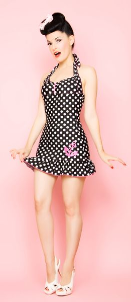 Vintage inspired, 40's/50's Pin-Up girl bathing suit from Lolita Girl Clothing. Adorable!