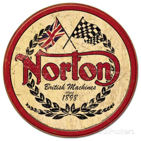 Norton - Logo Round Tin Sign at AllPosters.com