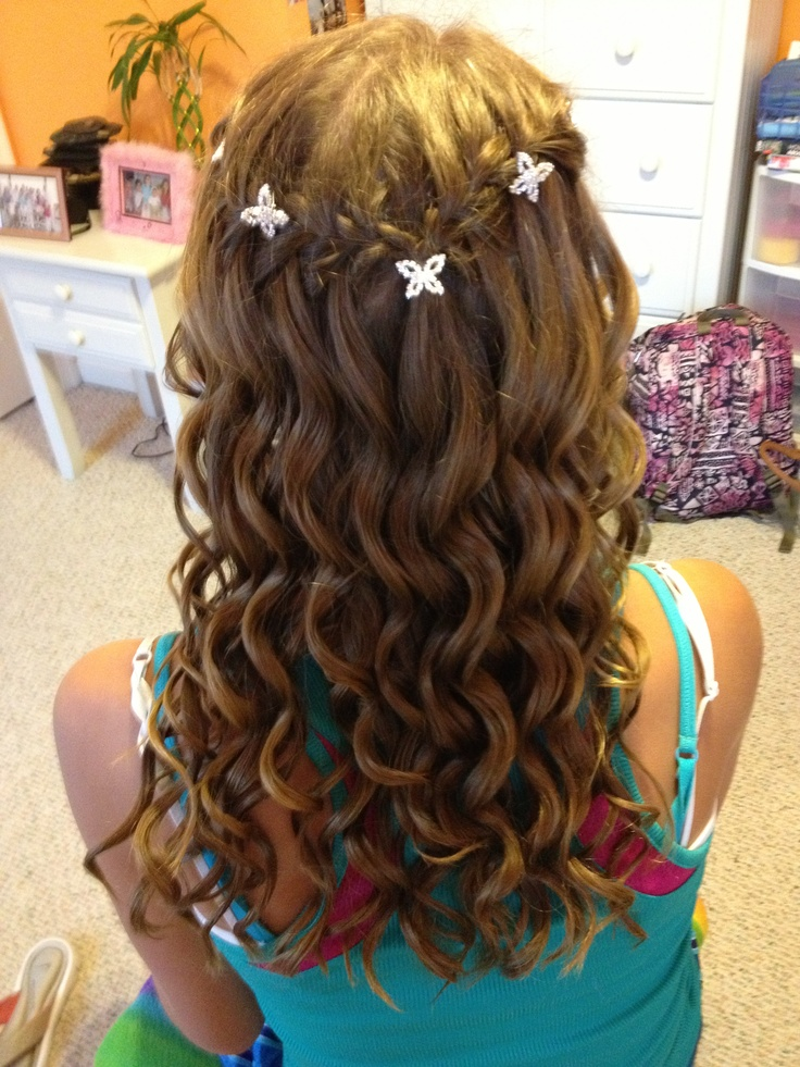how to hair braids styles waterfall braid with curls waterfall braid with curls 8123