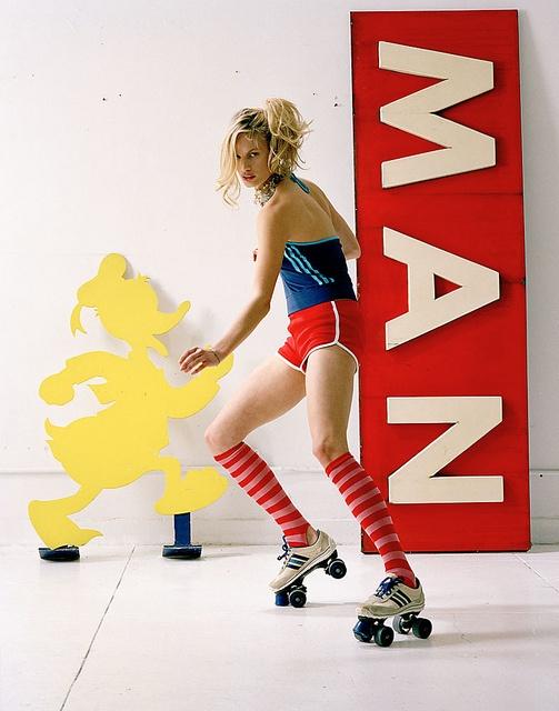 I remember those shorts & roller skates