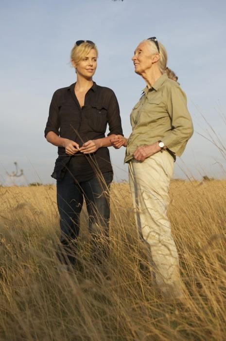 ICONOCLASTS- Charlize Theron (comédienne) et Jane Goodall (primatologue) toutes deux humanistes.
