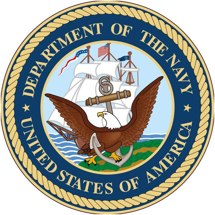 """Department Of The Navy USA (With Graphic) 