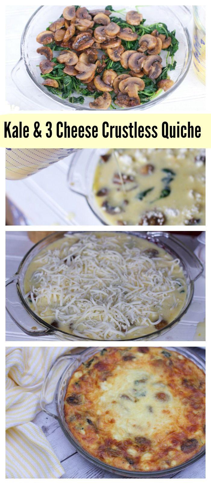 Blue apron quiche artichoke - Kale Mushroom And 3 Cheese Crustless Quiche Recipe Ad