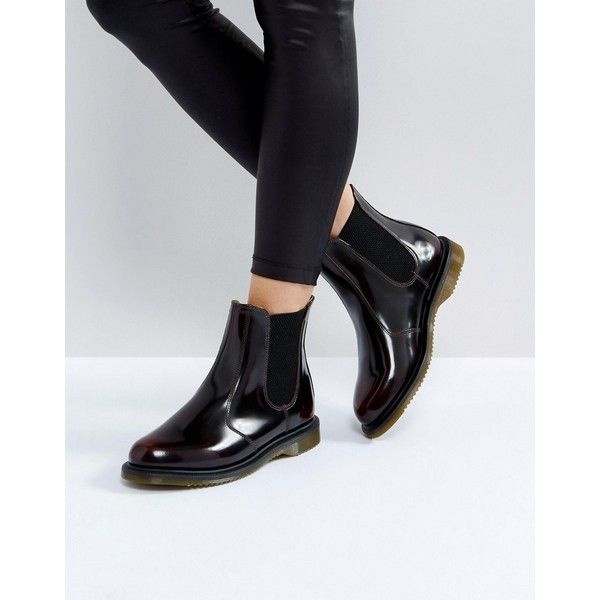 Dr Martens Kensington Flora Chestnut Chelsea Boots ($205) ❤ liked on Polyvore featuring shoes, boots, ankle booties, tan, dr martens boots, round toe booties, chelsea boots, floral-print boots and beatle boots