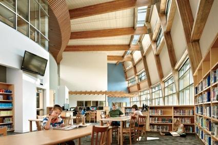 Design-Related | The Machias Elementary School's sunlit library.... | School Library Design | Scoop.it
