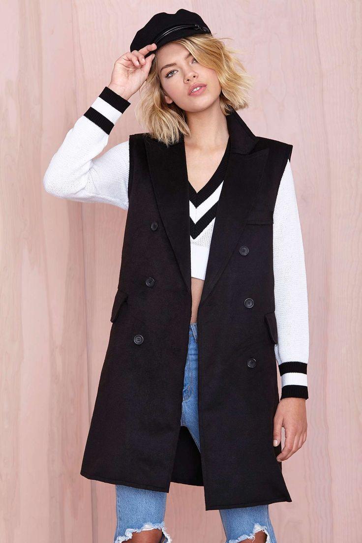 BLQ Basiq Victoria Sleeveless Coat at Nasty Gal