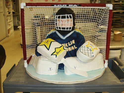 Hockey Goalie Cake by Art by Vanessa, via Flickr