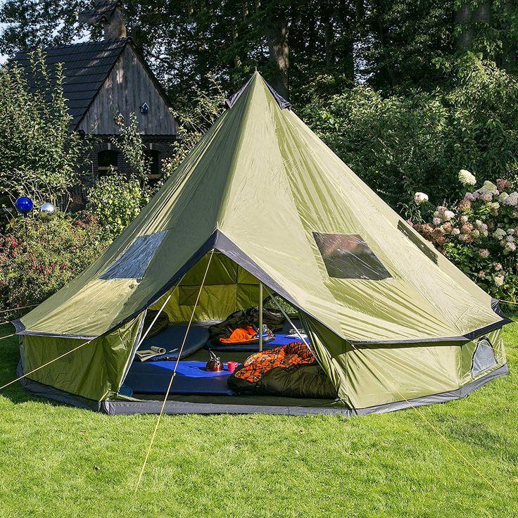 Skandika Molde- 16065- Tenda Campeggio Familiare - 6 Persone - Tipi- Verde: Amazon.it: Sport e tempo libero