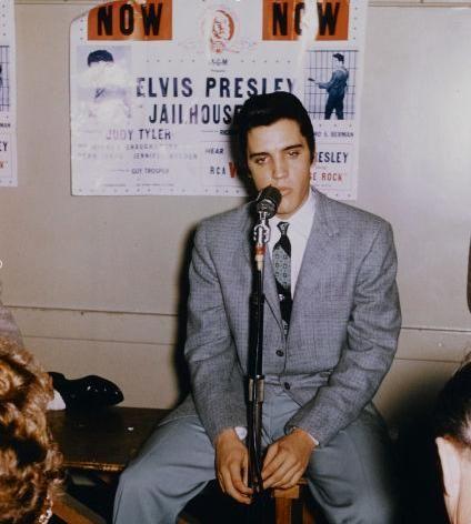 "Elvis...press conference ""jailhouse rock"""