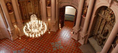 Interior as seen from above, the Camarín -- Templo de San Diego, Aguascallientes
