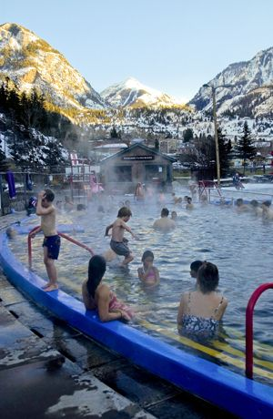 Ouray Co. - hot springs - doesn't matter if it is freezing outside with snow on the ground!