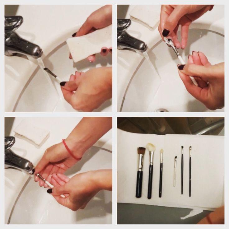 Cómo limpiar los pinceles y brochas de maquillaje! www.vivaflamingo.com