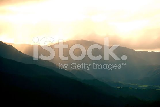 Dusk over Rural Scene royalty-free stock photo