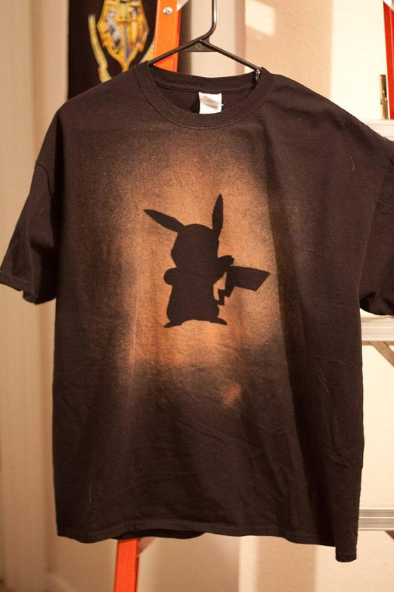 Pikachu Bleached Shirt by GeekeryAndMore on Etsy, $25.00