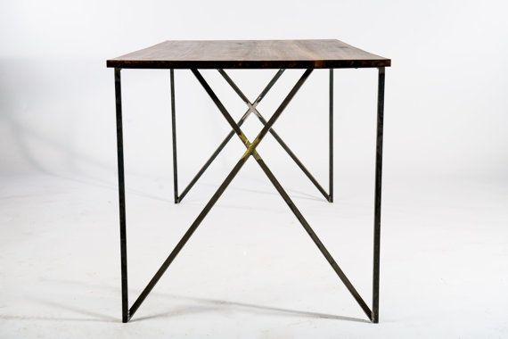 inside out dining table - reclaimed wood , industrial furniture , modern , made by hand on Etsy, $1,199.00