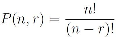 Formulas for Combinations and Permutations: Permutation Formula