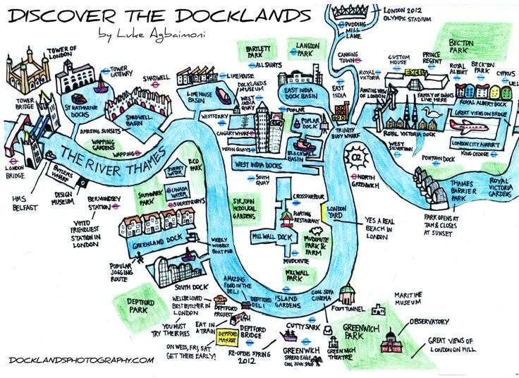 Hand Drawn Map Of London Docklands I See My Old House