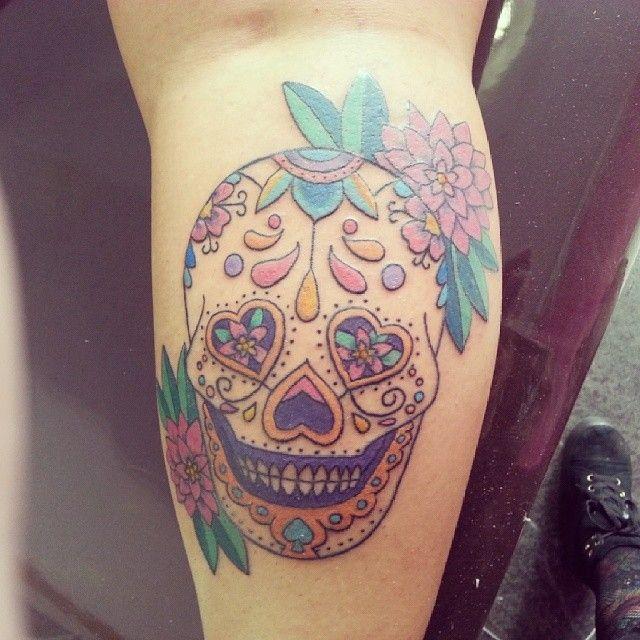 Minha tatoo de caveira mexicana!! Estou apaixonada!!!