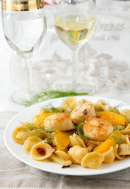 Scallops with fennel orechiette by kokocooks