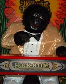 The gorilla from the ShowBiz Pizza stage band. Showbiz ...