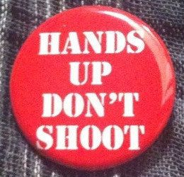 Hands Up Dont Shoot Button/Magnet/Bottle Opener by OfRoyaltyShop
