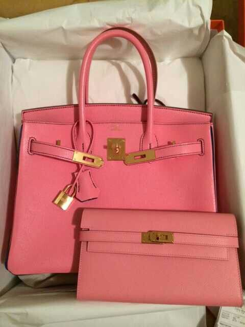 Pink birkin and rose confetti kelly wallet | Hermes holic ...