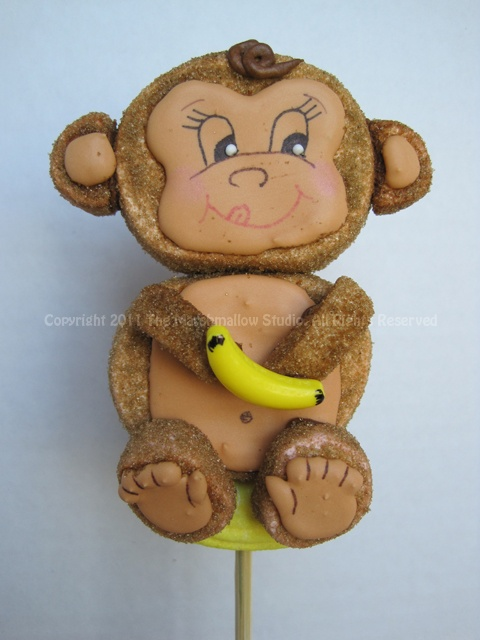 Monkey #marshmallow #pop #favors #jungle #monkey #banana