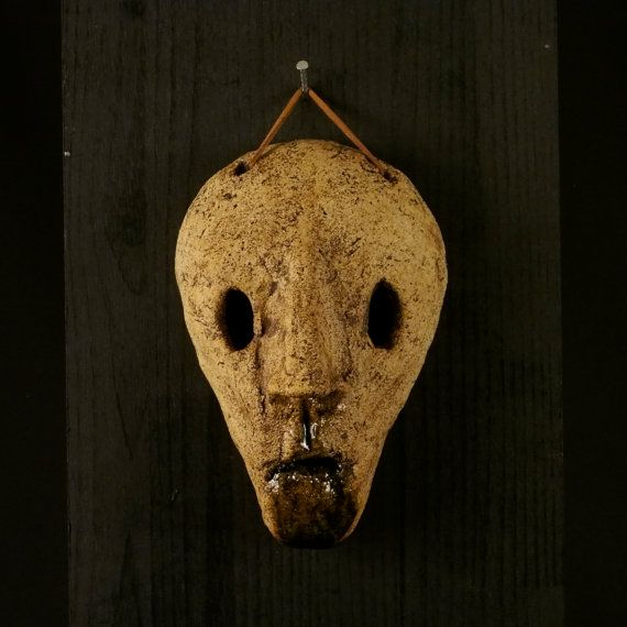 a Ceramic mask, made by Juri Etto, sold on Etsy. Ceramic, Stoneware, Sculpture,