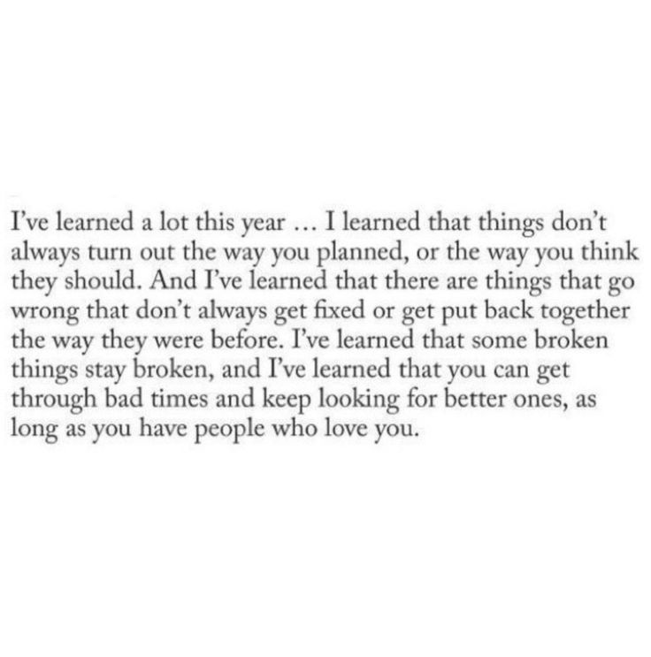 I've learned a lot this year.. All of this..