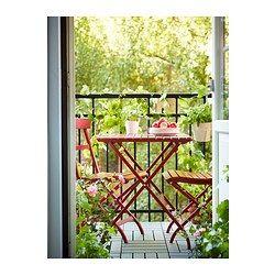 MÄLARÖ Chair, outdoor - foldable red, - - IKEA