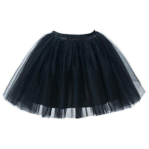 EXTRA PLUS SIZE Adult Tutu XXL - Princess Costume Ballet Warrior Dash Running Skirt (Black)