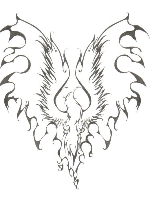 Probably the closest I've come to finding the right Phoenix tattoo for me...