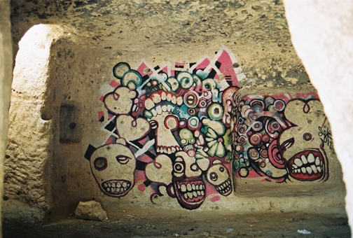 Three days in a remote cave located near the town of Hasankeyf in Eastern Turkey, Daniel J Kirk explored the notion of cave painting. With no food and no human contact he allowed the creative process to guide his painting while intending to raise questions about graffiti, vandalism and culture.