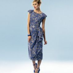 Patron couture retro butterick'51 - robe b5880 -  a5 (6-8-10-12-14)