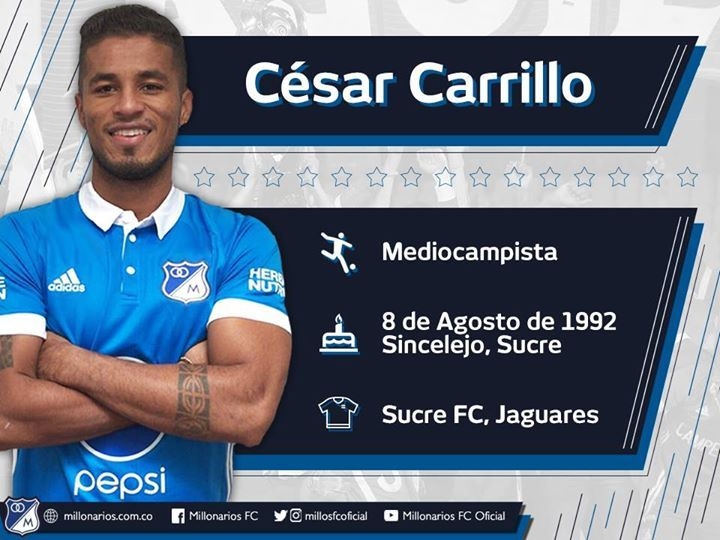 César Carrillo es nuevo volante azul. ¡Bienvenido al Campeón! http://millonarios.com.co/news/detail/1367cesar-carrillo-llega-a-potencializar-el-medio-campo-azul #AUnaSolaVoz #fashion #style #stylish #love #me #cute #photooftheday #nails #hair #beauty #beautiful #design #model #dress #shoes #heels #styles #outfit #purse #jewelry #shopping #glam #cheerfriends #bestfriends #cheer #friends #indianapolis #cheerleader #allstarcheer #cheercomp  #sale #shop #onlineshopping #dance #cheers…