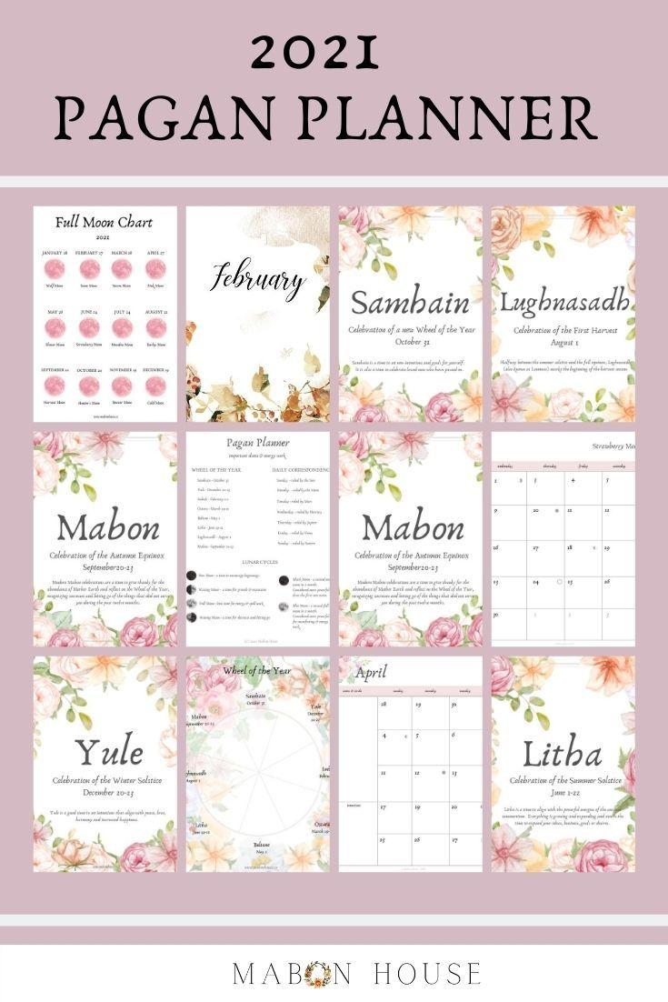 Pagan Calendar 2021 2021 Pagan Planner Printable planner Pagan Wiccan   Etsy   Wiccan