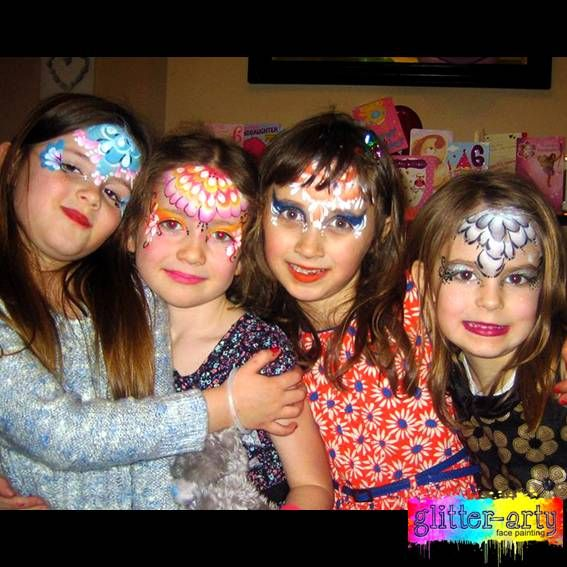 Girls Princess Party by Glitter-Arty Face Painting, Bedford, Bedfordshire