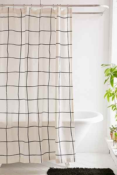 Shop Wonky Grid Shower Curtain At Urban Outfitters Today