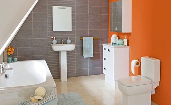 20 Fresh Orange Bathroom Ideas