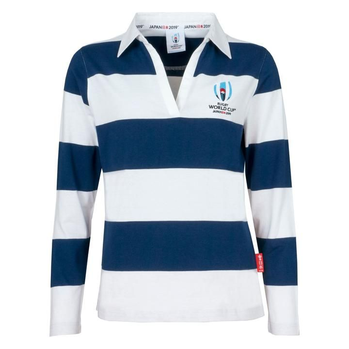 e86b85b0087 Rugby World Cup 2019 Women's Long Sleeve Stripe Rugby Shirt | Rugby ...