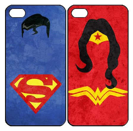 Superman and Wonderwomen  Samsung Galaxy S3 S4 S5 Note 3 case, iPhone 4 4S 5 5s 5c case, iPod Touch 4 5 Couple Case
