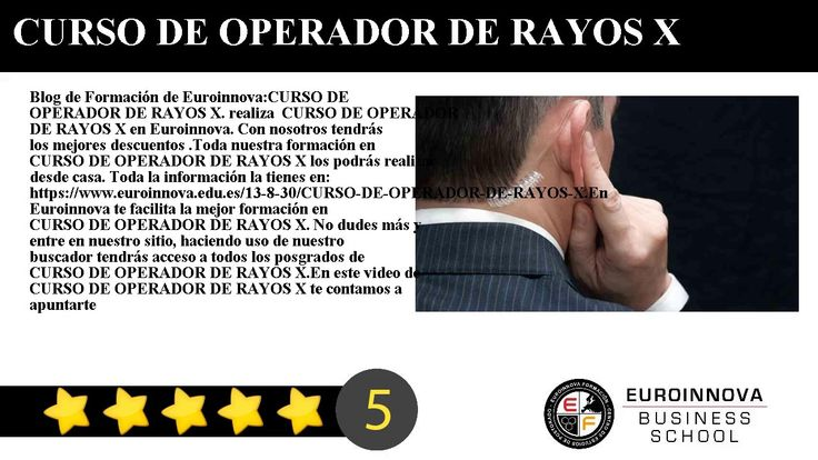 CURSO DE OPERADOR DE RAYOS X - Blog de Formación de Euroinnova:    CURSO DE OPERADOR DE RAYOS X. realiza  CURSO DE OPERADOR DE RAYOS X en Euroinnova. Con nosotros tendrás los mejores descuentos .Toda nuestra formación en CURSO DE OPERADOR DE RAYOS X los podrás realizar desde casa.     Toda la información la tienes en: https://www.euroinnova.edu.es/13-8-30/CURSO-DE-OPERADOR-DE-RAYOS-X.    En Euroinnova te facilita la mejor formación en CURSO DE OPERADOR DE RAYOS X. No dudes más y entre en…
