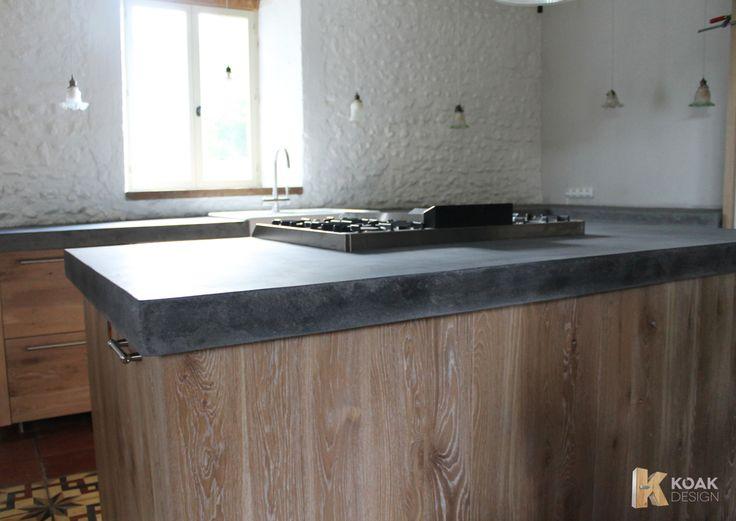 Koak design massief houten keuken whitewash opgeruwd for Koak keuken