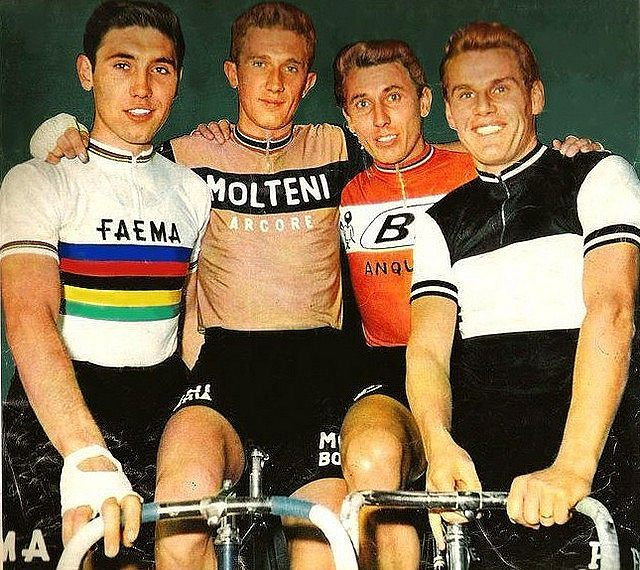 Eddy Merckx - ? - Jacques Anquetil and Jan Janssen