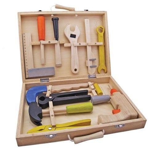 gereedschapskist met 12 onderdelen   new classic toys