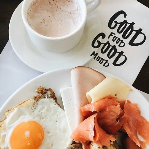 """Good food, good mood"" .. We couldn't agree more with @kononova_alina ! #grecianbay #foodpower #breakfast  #cyprus"